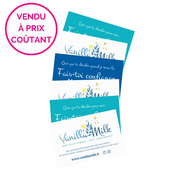 Pack 5 cartes VanillaMilk
