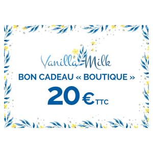 Bon cadeau 20€ Boutique VanillaMilk
