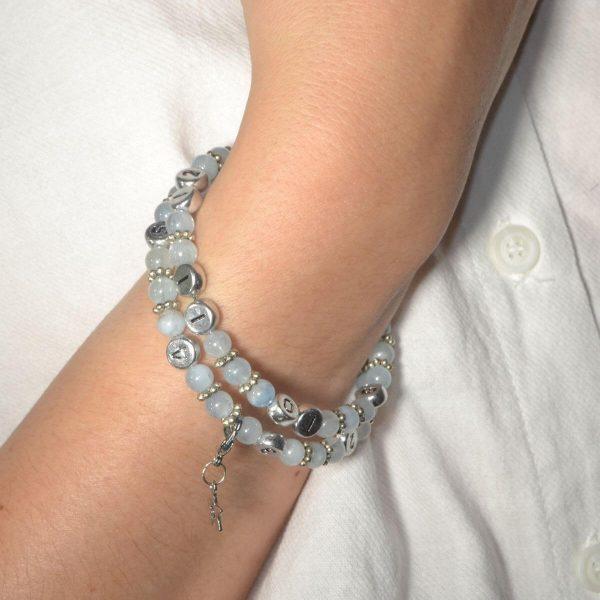 Bracelet allaitement Aigue marine