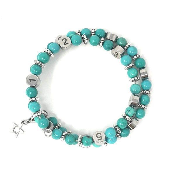 Bracelet allaitement Turquoise