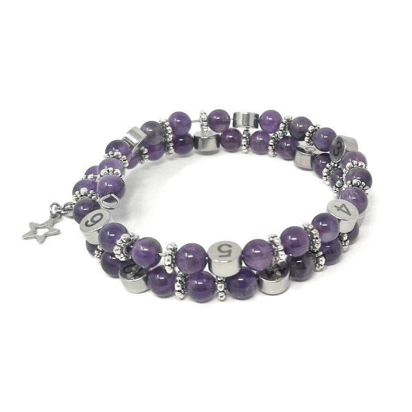 Bracelet allaitement Violet