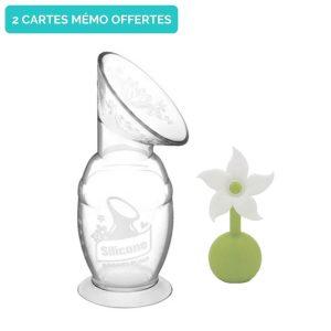 Recueil-lait Haakaa 150ml avec fleur