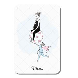Carte Merci pour ton soutien (maternité) - Fanny Gautheron